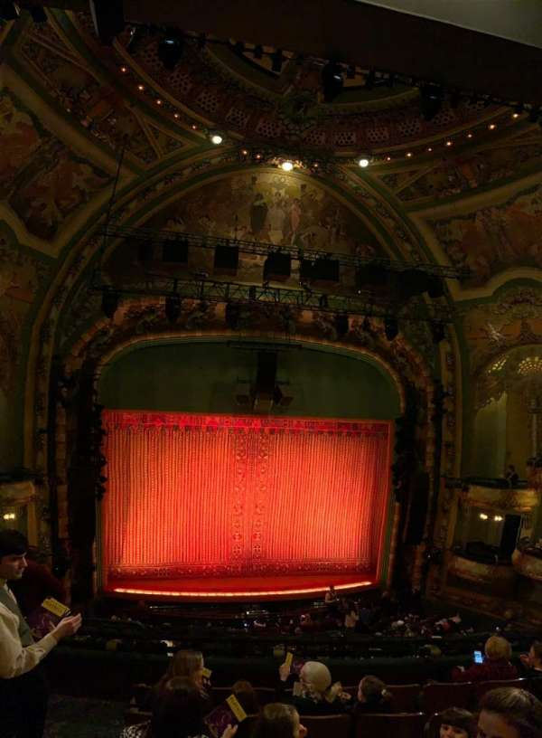 New Amsterdam Theatre, section: Mezzanine C, row: FF, seat: 116