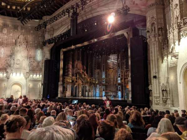 Orpheum Theatre (San Francisco), section: Orchestra R, row: T, seat: 22