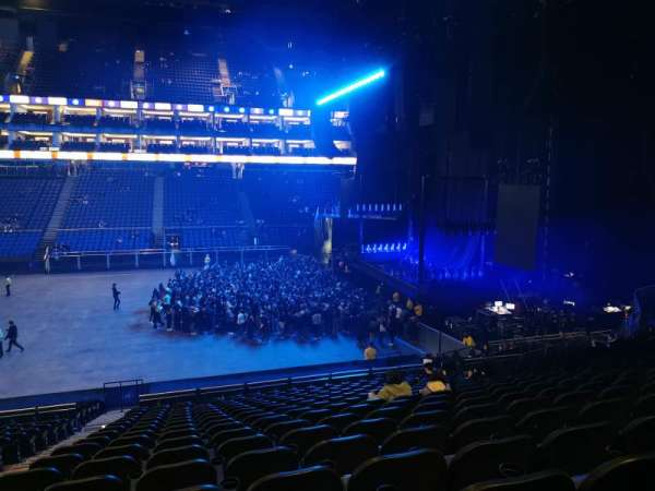 The O2 Arena, section: L112, row: A, seat: 37