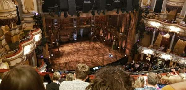 Victoria Palace Theatre, section: Grand Circle, row: G, seat: 34