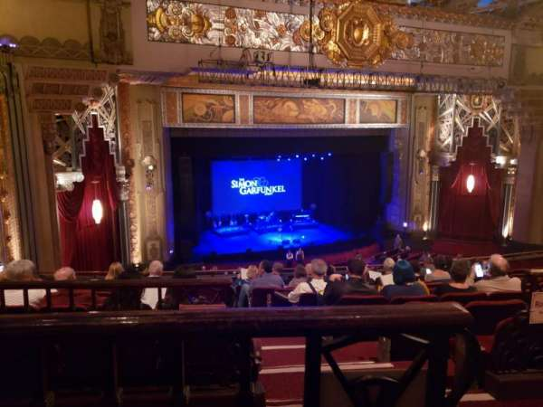 Hollywood Pantages Theatre, section: Mezzanine L, row: J, seat: 1