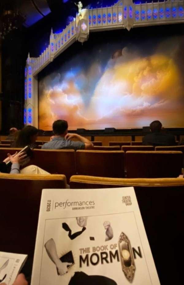 Ahmanson Theatre, section: Orchestra, row: E, seat: 7