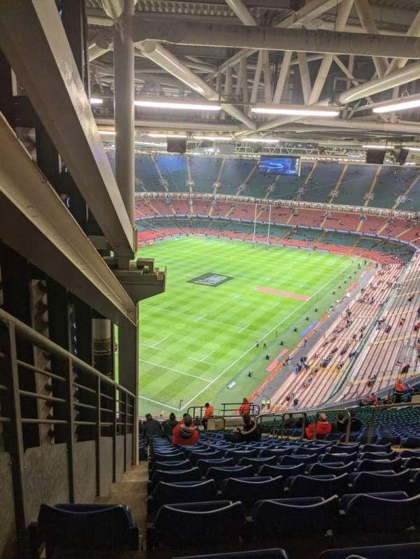 Principality Stadium, section: U37, row: 33, seat: 26