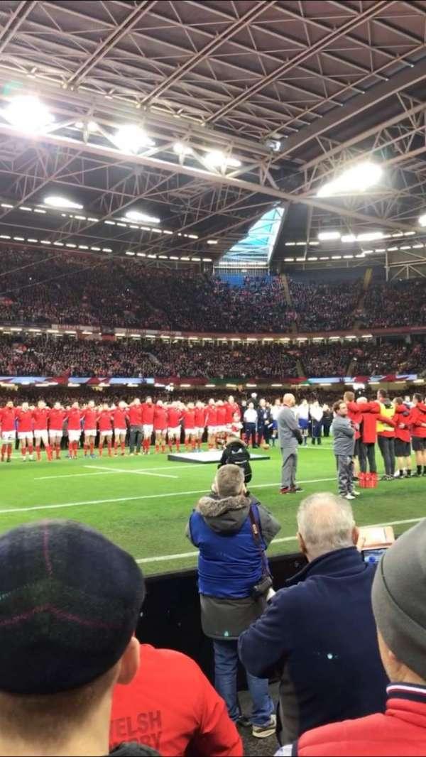 Principality Stadium, section: L10, row: 3, seat: 5