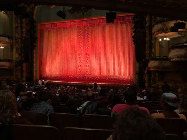 New Amsterdam Theatre, section: Orchestra R, row: T, seat: 18