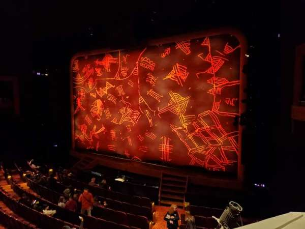 Minskoff Theatre, section: Mezzanine, row: CC, seat: 2