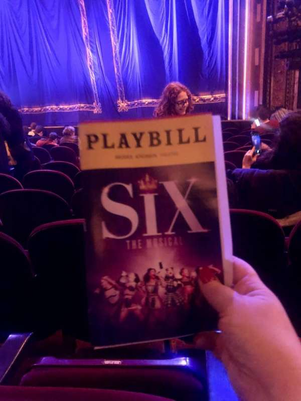 Brooks Atkinson Theatre, section: Orchestra R, row: K, seat: 12