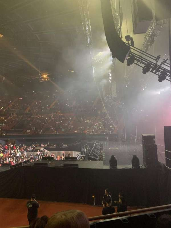 The Forum, section: 113, row: 4, seat: 5