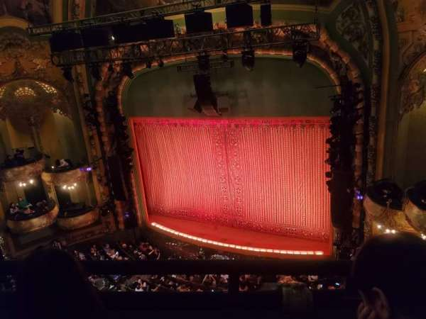 New Amsterdam Theatre, section: Balcony R, row: B, seat: 16