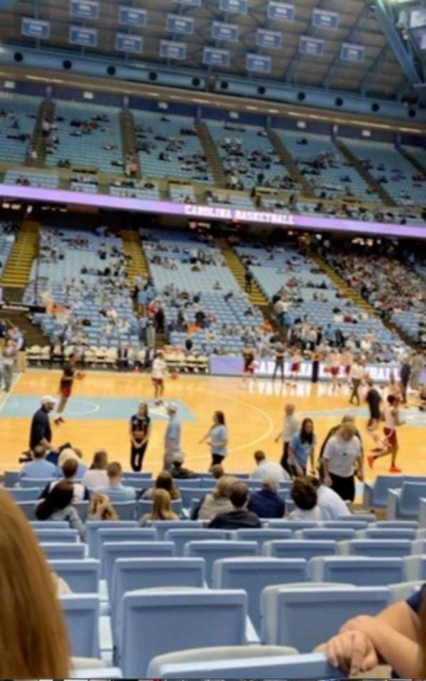 Dean E. Smith Center, section: 124, row: K