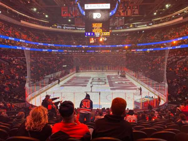 Wells Fargo Center, section: 107, row: 23, seat: 9