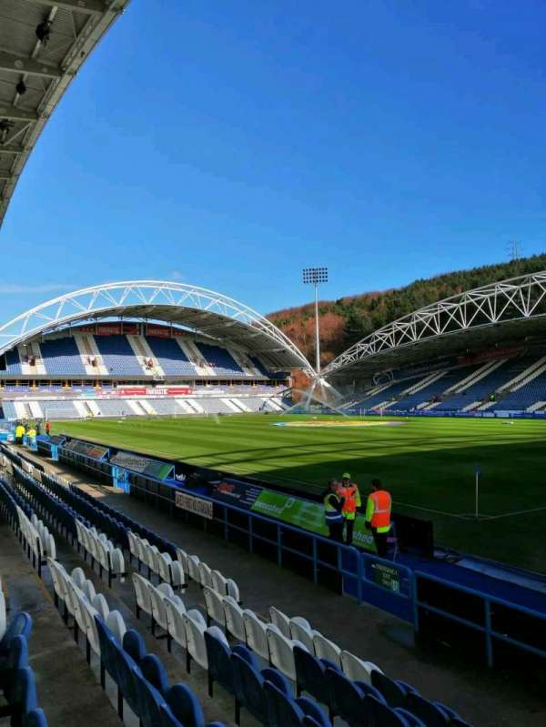 John Smith's Stadium, section: 1, row: F, seat: 1