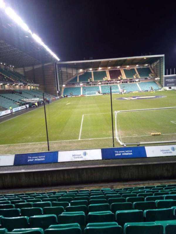 Easter Road Stadium, section: Lower Tier, row: L, seat: 107
