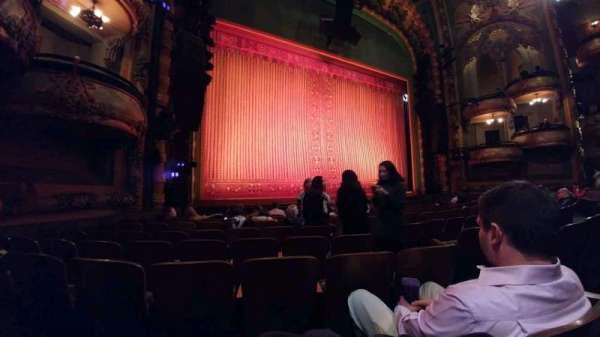 New Amsterdam Theatre, section: orchestra l, row: J, seat: 7