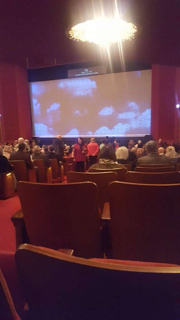 The Kennedy Center Opera House, section: Orchestra R, row: GG, seat: 4