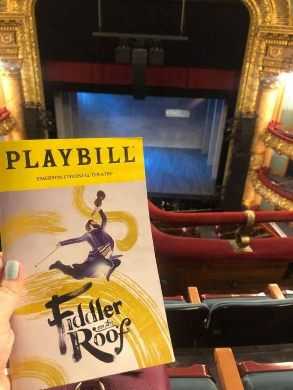 Emerson Colonial Theatre, section: Balcony RC, row: C, seat: 102
