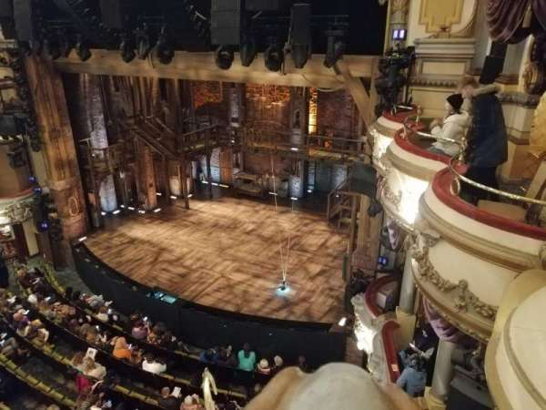 Victoria Palace Theatre, section: Grand Circle, row: A, seat: 2