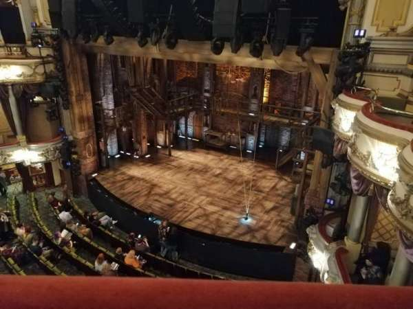 Victoria Palace Theatre, section: Grand Circle, row: A, seat: 4