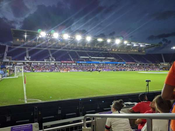 Exploria Stadium, section: 1, row: D, seat: 1