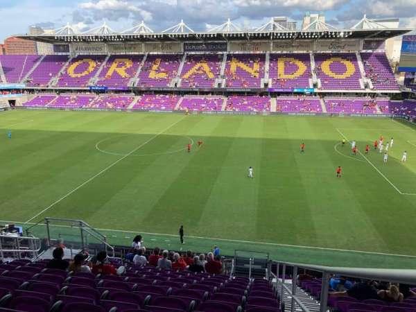 Exploria Stadium, section: 113, row: R, seat: 1