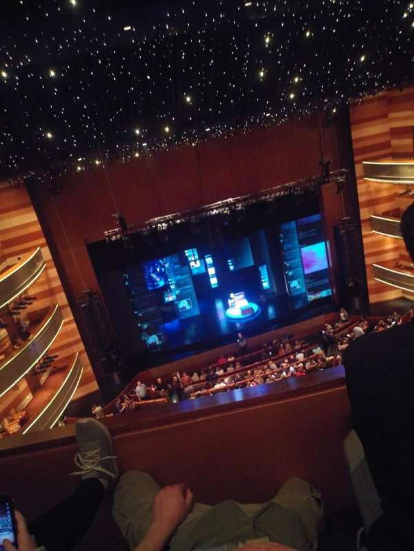 Eccles Theater, section: Tier 3 Center, row: B, seat: 20