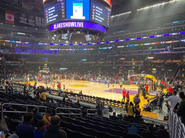 Staples Center, section: 109, row: 14, seat: 1