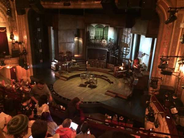 Walter Kerr Theatre, section: Mezzanine R, row: F, seat: 20