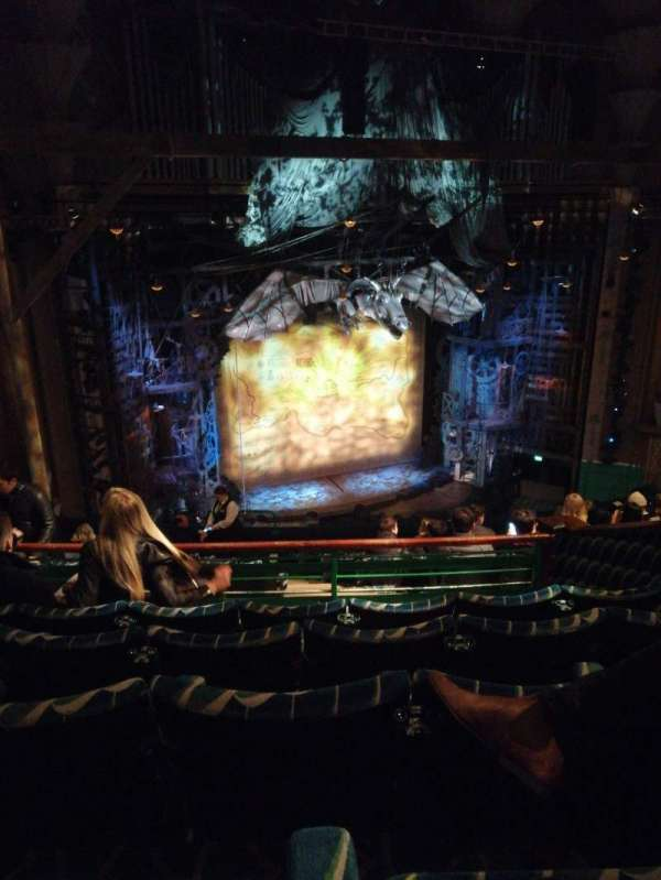 Apollo Victoria Theatre, section: Dress circle, row: L, seat: 46