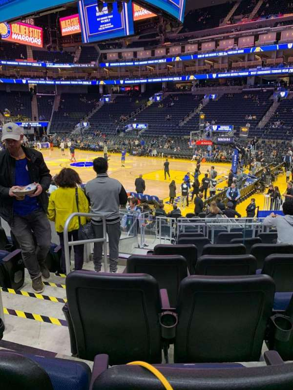 Chase Center, section: 101, row: 5, seat: 12
