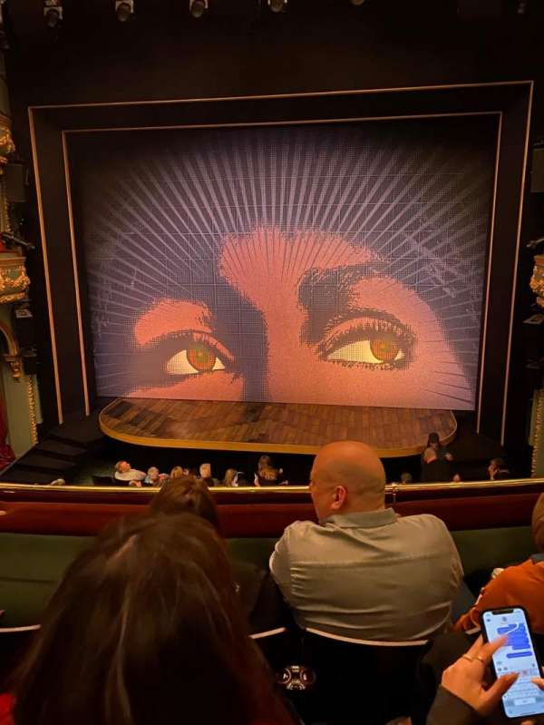 Aldwych Theatre, section: Dress Circle, row: C, seat: 9