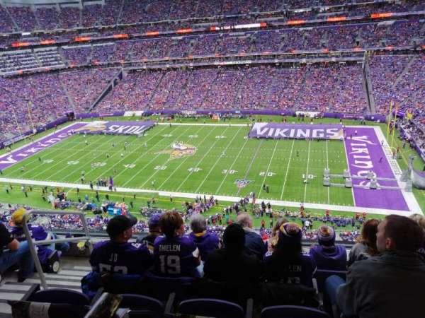 U.S. Bank Stadium, section: 338, row: E, seat: 17