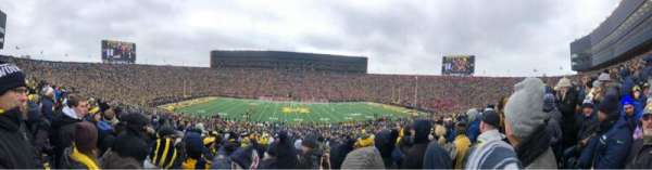 Michigan Stadium, section: 23, row: 68