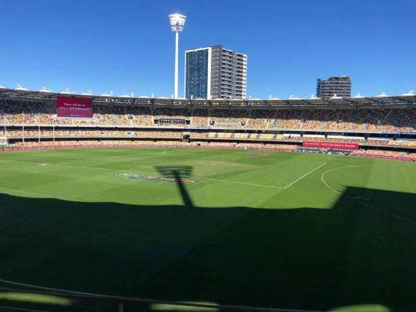 The Gabba, section: 43, row: CC, seat: 163