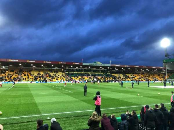 Carrow Road, section: N, row: F, seat: 212