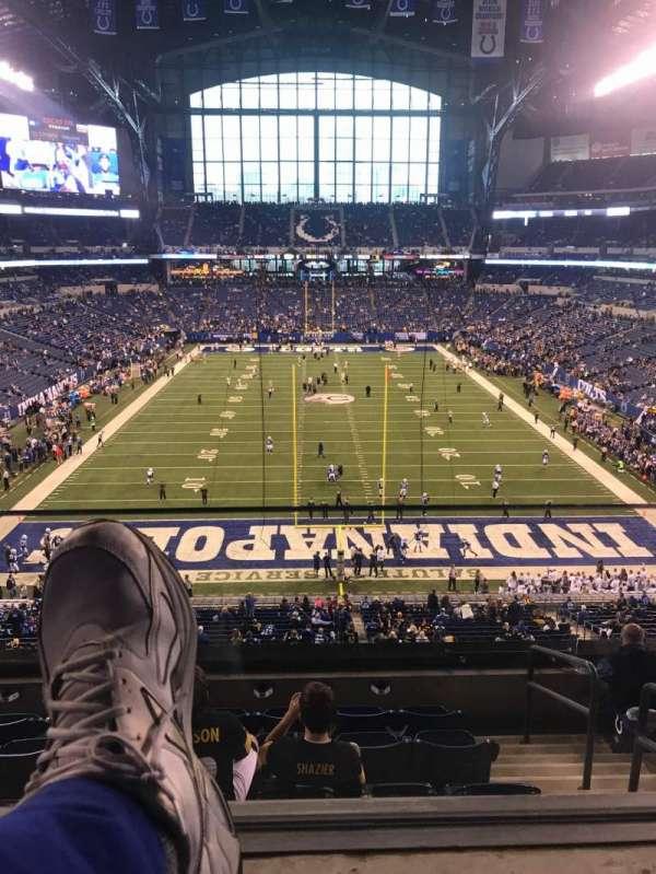 Lucas Oil Stadium, section: 427, row: 1, seat: 13