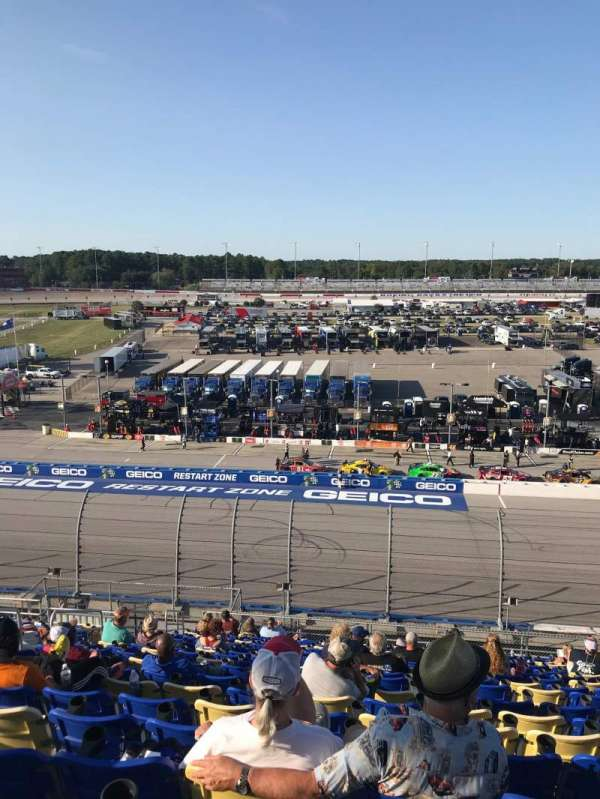 Darlington Raceway, section: Tyler Tower V, row: 18, seat: 17