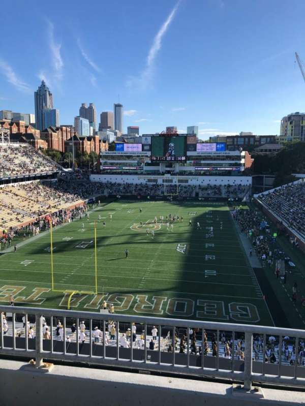 Bobby Dodd Stadium, section: 214, row: 3, seat: 5
