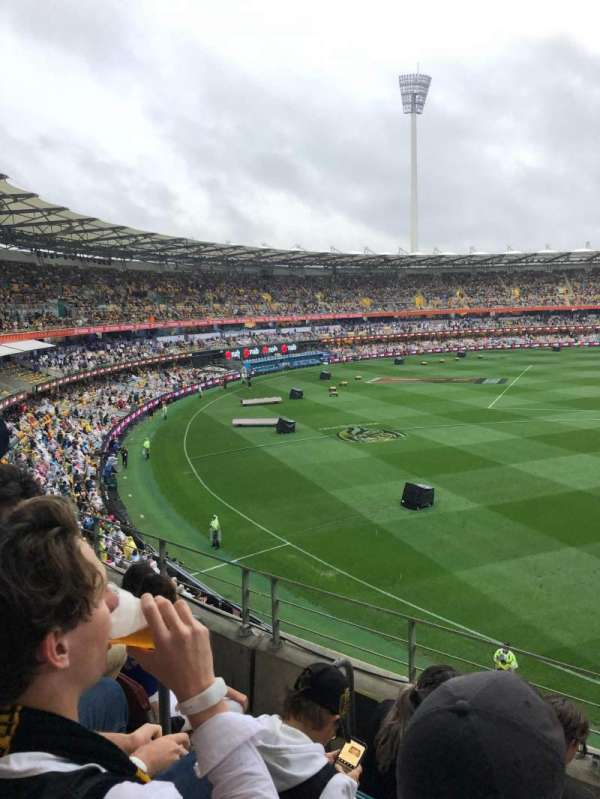 The Gabba, section: 57, row: DD, seat: 128