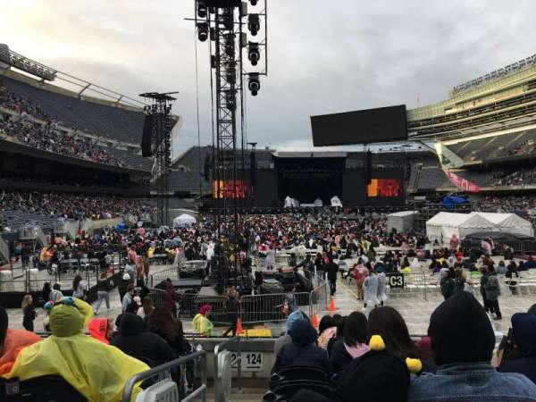 Soldier Field, section: 124, row: 8, seat: 1