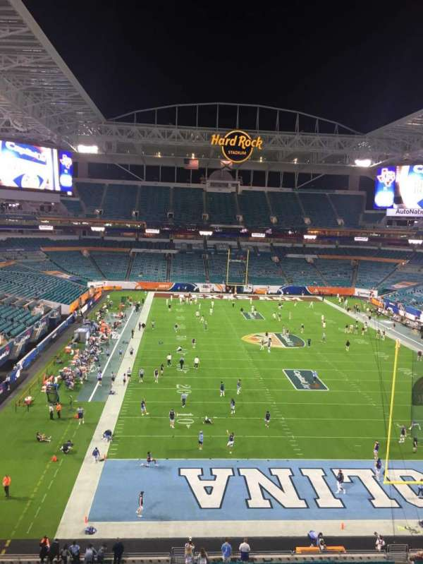 Hard Rock Stadium, section: 334, row: 1, seat: 1