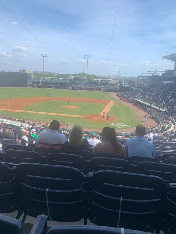 George M. Steinbrenner Field, section: 213, row: P, seat: 20