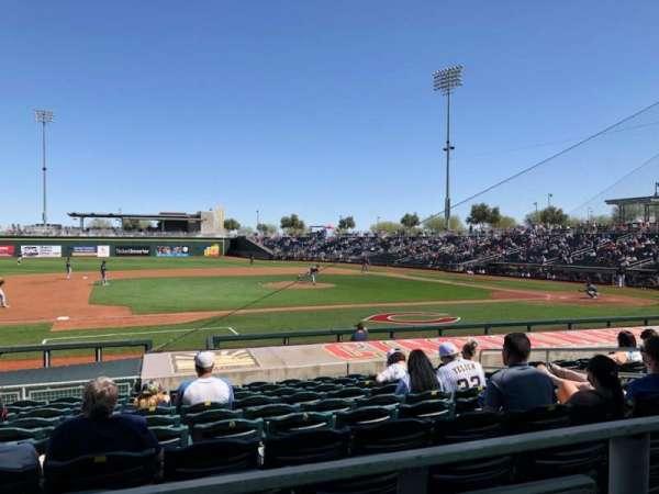 Goodyear Ballpark, section: 107a, row: Q, seat: 12