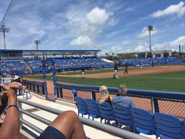 TD Ballpark, section: 101, row: 1, seat: 14