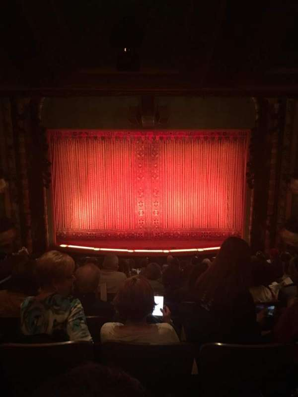 New Amsterdam Theatre, section: Mezzanine C, row: NN, seat: 108