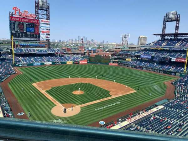 Citizens Bank Park, section: 319, row: 1, seat: 16