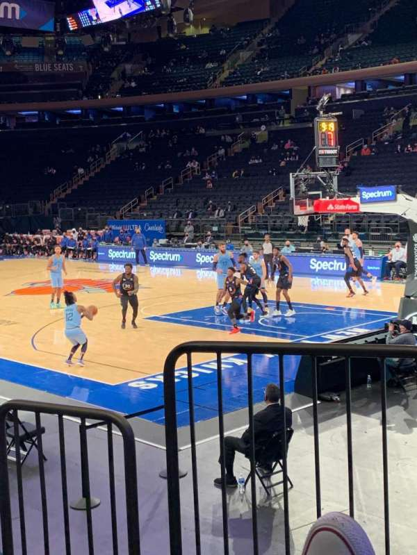Madison Square Garden, section: 120, row: 6, seat: 1
