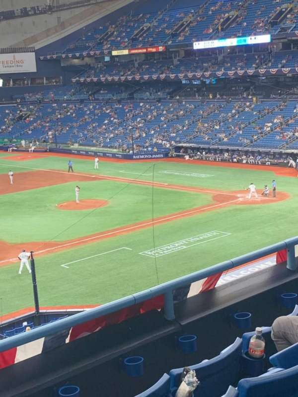 Tropicana Field, section: 215, row: D, seat: 10