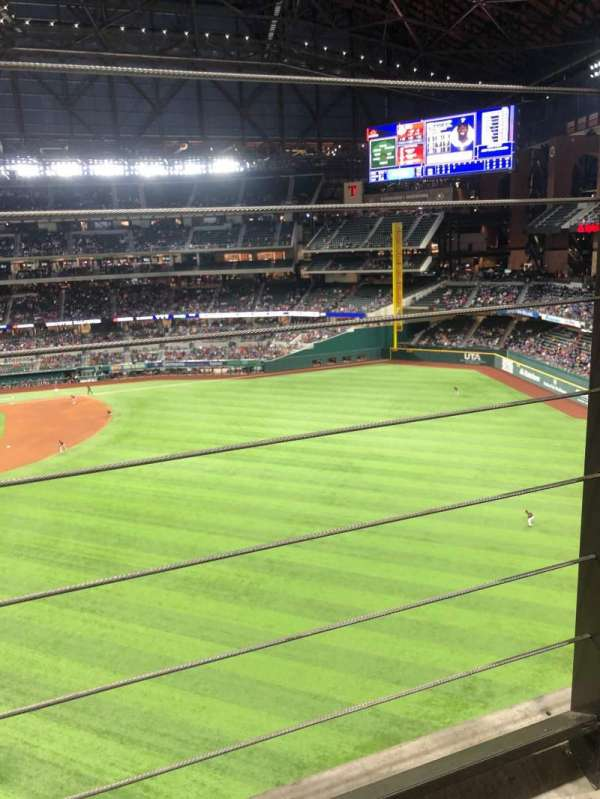 Globe Life Field, section: 234, row: 1, seat: 18