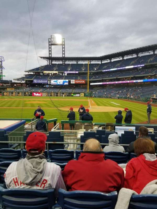 Citizens Bank Park, section: A, row: 9, seat: 4