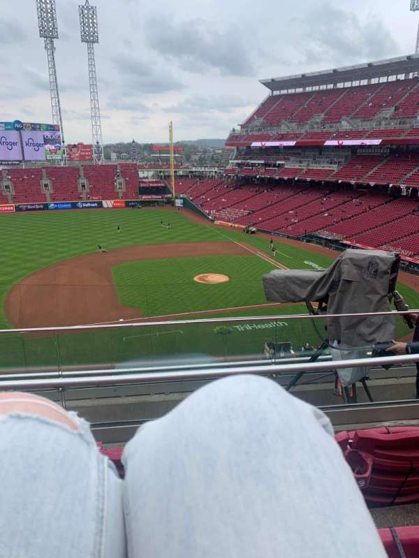 Great American Ball Park, section: 417, row: E, seat: 20